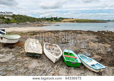 Rowing Boats At Portscatho