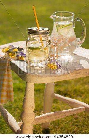 Refreshing cold summer drinks al fresco