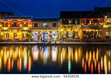 Hoi An Ancient Town Of Veitnam At Night