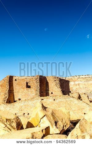 Buildings In Chaco Culture National Historical Park, Nm, Usa