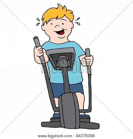 An image of a man riding an elliptical machine.