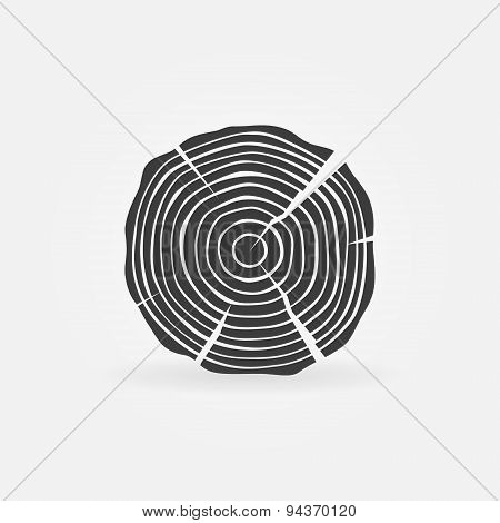 Wood icon or sawmill logo