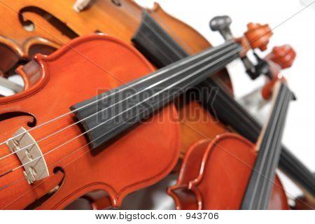 Three Violins. Soft Focus