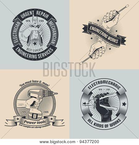 emblems for repair workshop