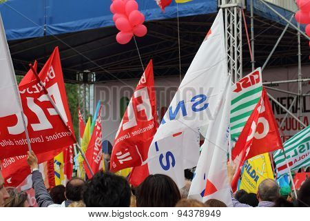 Trade union demostration