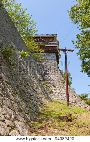 Corner Turret Of Matsuyama Castle, Japan