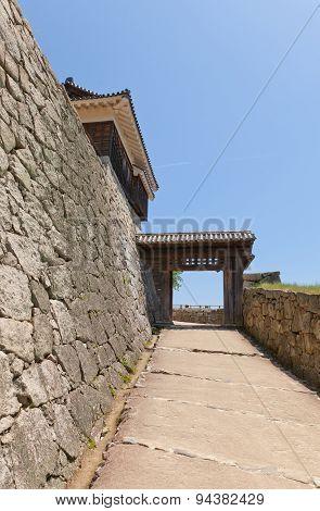 Tonashimon Gate (1800) Of Matsuyama Castle, Japan