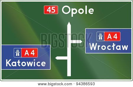 Direction Diagram Sign In Poland