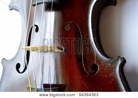 Antique Violin, Angled View