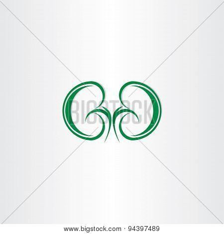 Green Healthy Kidneys Symbol
