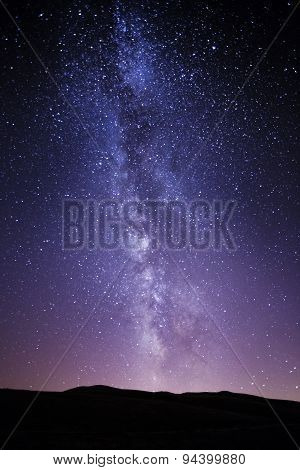 Milky Way photographed from the park nationale of Abruzzo in Italy poster