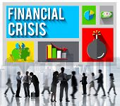 Financial Crisis Problem Money Issue Concept poster