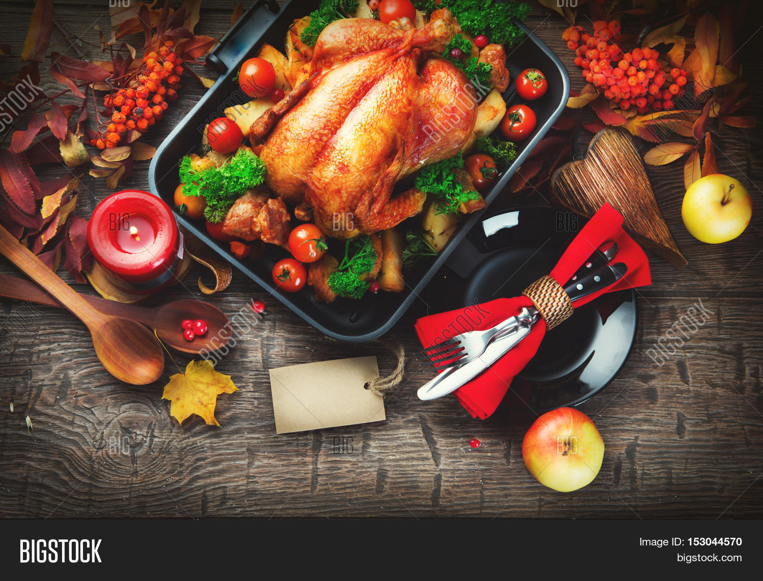Thanksgiving Dinner Image Photo Free Trial Bigstock