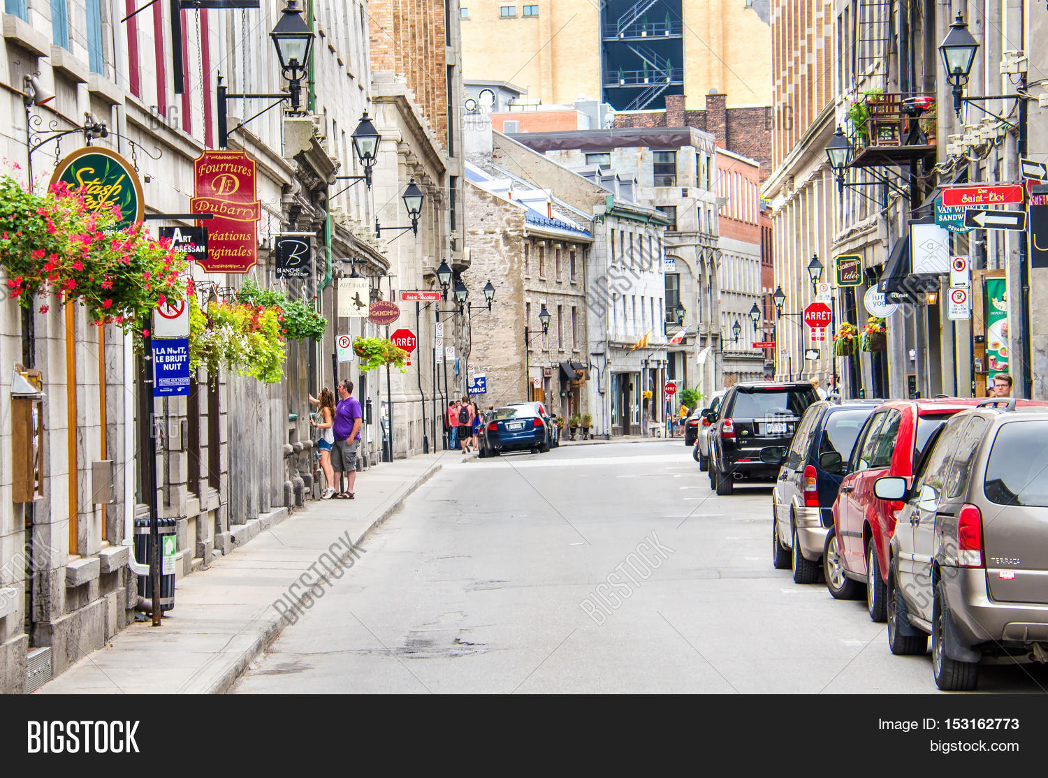 Montreal Canada July 26 2017 Old Town Street With European Style Architecture