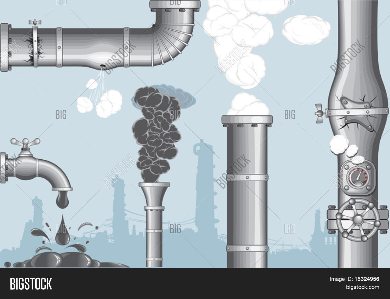 Industrial Accidents. Vector & Photo (Free Trial) | Bigstock