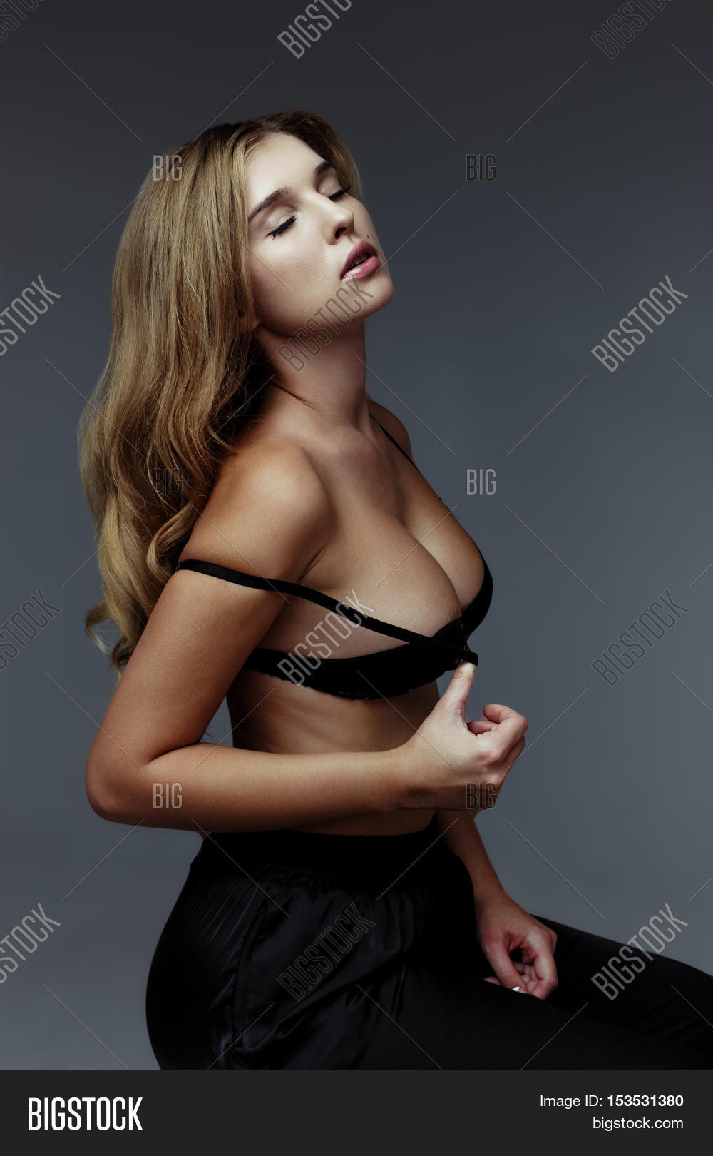 beautiful sexy blond woman big image & photo | bigstock