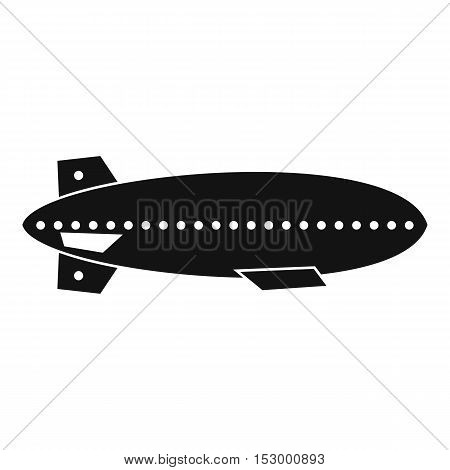 Dirigible balloon icon. Simple illustration of dirigible vector icon for web design