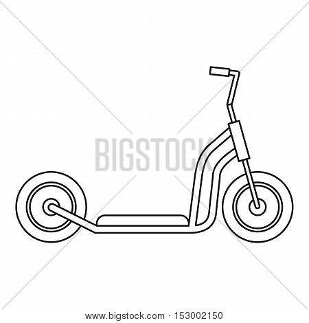Kick scooter icon. Outline illustration of kick scooter vector icon for web design