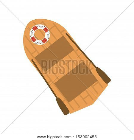 lifeboat ship icon. sea transportation nautical and marine theme. Isolated design. Vector illustration