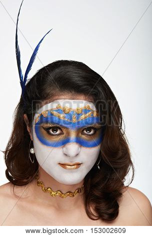 Venetian Blue Mask