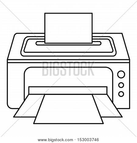 Photo printer icon. Outline illustration of photo printer vector icon for web