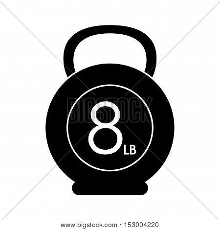 Kettlebell weight icon. Fitness gym sport and bodybuilding theme. Isolated design. Vector illustration