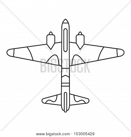 Military fighter aircraft icon. Outline illustration of military fighter aircraft vector icon for web