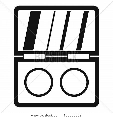 Shadow kit icon. Simple illustration of shadow kit vector icon for web