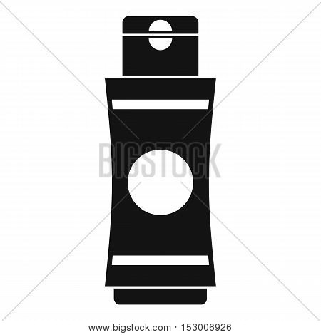 Tube of cream or gel icon. Simple illustration of tube of cream or gel vector icon for web