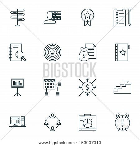 Set Of Project Management Icons On Personal Skills, Opportunity And Warranty Topics. Editable Vector