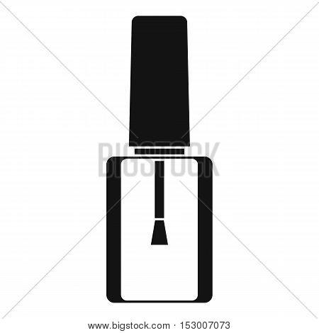 Nail polish bottle icon. Simple illustration of nail polish bottle vector icon for web