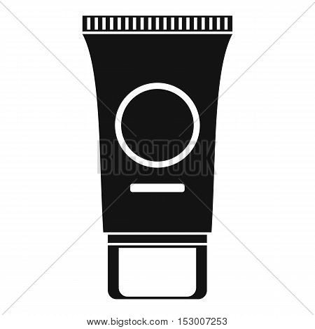 Cosmetic cream tube icon. Simple illustration of cosmetic cream tube vector icon for web