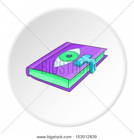 Magic book icon. Isometric illustration of magic book vector icon for web