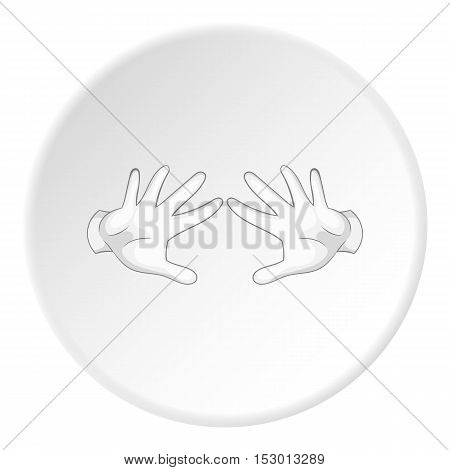 Magician arms icon. Flat illustration of magician arms vector icon for web
