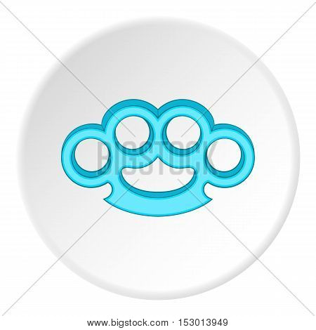 Brass knuckles icon. Flat illustration of brass knuckles vector icon for web