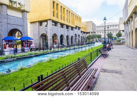 GUADALAJARA MEXICO - AUG 29 : View of Guadalajara Mexico historic center on August 29 2016. Guadalajara is the capital and largest city of the Mexican state of Jalisco