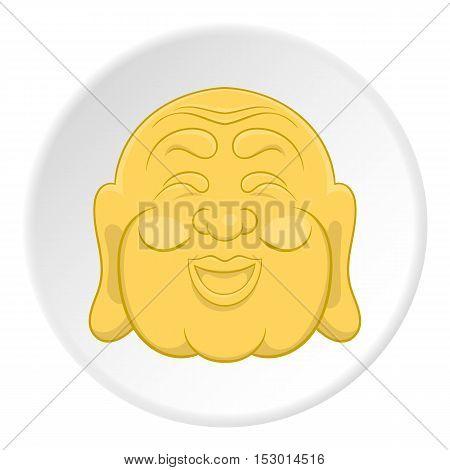 Buddha icon. Flat illustration of buddha vector icon for web