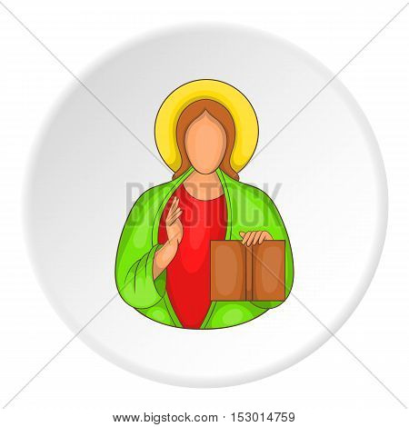 Jesus icon. Flat illustration of Jesus vector icon for web