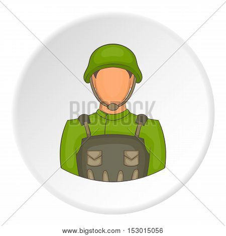 Soldier icon. Flat illustration of soldier vector icon for web