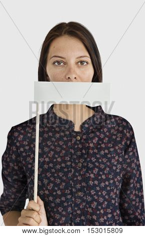 Woman Mouth Covered Forbidden Eligible Concept