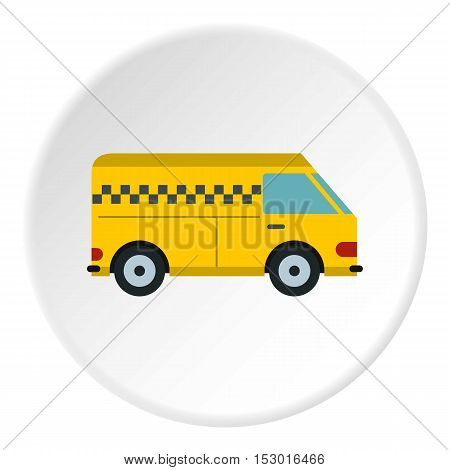 Minibus taxi icon. Flat illustration of minibus taxi vector icon for web