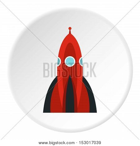 Ballistic rocket icon. Flat illustration of ballistic rocket vector icon for web