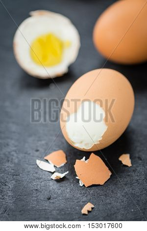 Slate Slab With Boiled Eggs