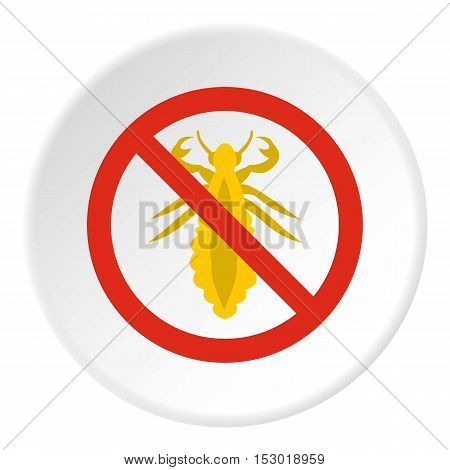 Prohibition sign insects icon. Flat illustration of prohibition sign insects vector icon for web