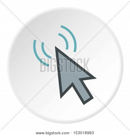 Cursor of mouse clicks icon. Flat illustration of cursor of mouse clicks vector icon for web