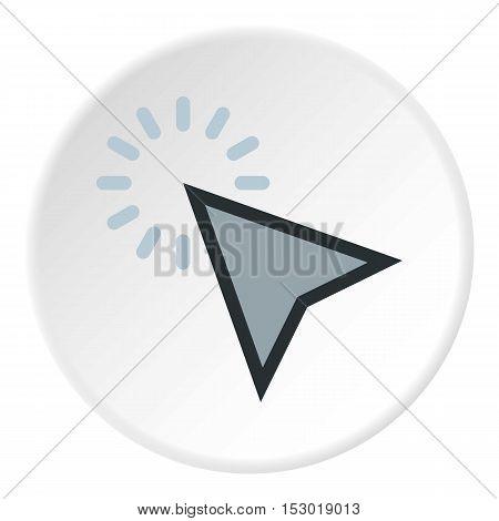 Cursor clicks icon. Flat illustration of cursor clicks vector icon for web
