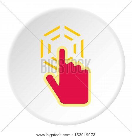 Cursor hand clicks icon. Flat illustration of cursor hand clicks vector icon for web