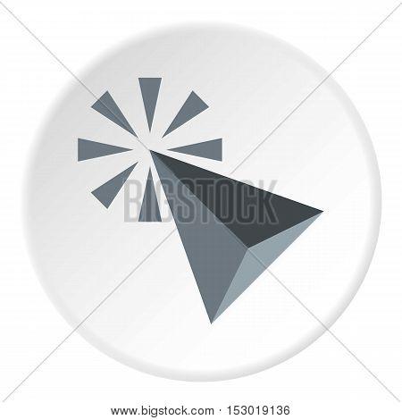 Grey cursor icon. Flat illustration of grey cursor vector icon for web