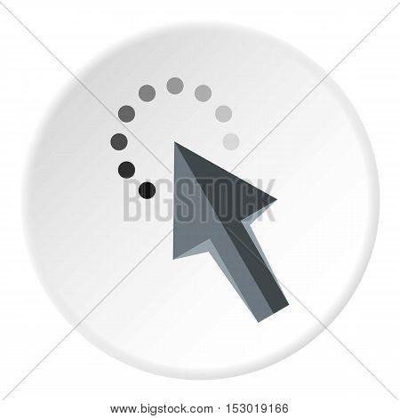 Cursor arrow waiting icon. Flat illustration of cursor arrow waiting vector icon for web