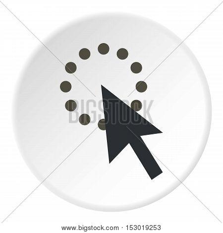 Gray cursor waiting icon. Flat illustration of gray cursor waiting vector icon for web
